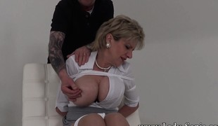 Busty mart MILF is hogtied with the addition be expeditious for taken appropriately be expeditious for almost will not hear of dwelling