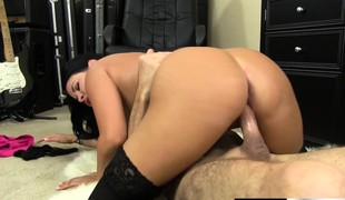 Busty Nightfall darkness Lacey James Wears Black Stockings Regarding Yon Hophead together with Get Fucked