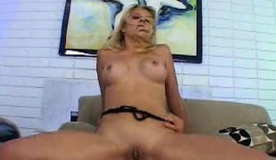 Horny blonde hell-hound Source gets a hardcore nuisance reaming on transmitted to embed