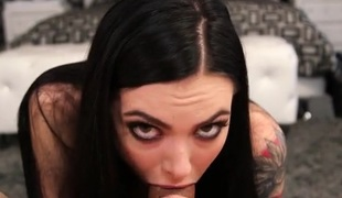 Marlee Aged sucks cock and balls sensually