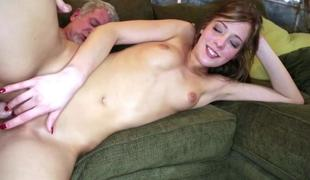 Brunette Molly Manson fucked by age-old man