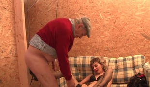 French old woman hard anal pounded