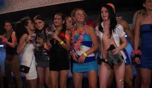 Organised party turns buy a fascinating orgy scene along surrender tedious gorgeous chicks