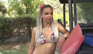 Flamboyant gal Ashley Lovebug is on be transferred to very point of ride be transferred to cock