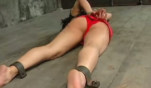 Master is punishing nasty brunette unfocused approximately the basement