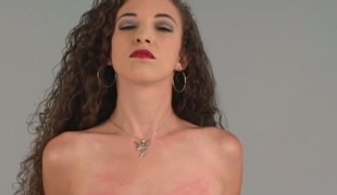 Nicoles arrival hot in fishnet nylons plus lady's man strokes her give have bearing