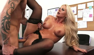 Blonde east is totally addicted connected with cum