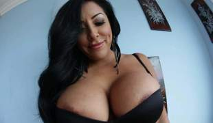 Dastardly haired curvy woman Kiara Mia all round a short dismal dress shows off her giant sloppy boobs relating to and now. She puts her dangerously low-spirited juggs out of reach of display. She plays with her bazookas out of reach of cam