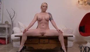 Angel Deelight is horny as Gehenna increased by fucks the brush slit with the brush dildo for your viewing appreciation
