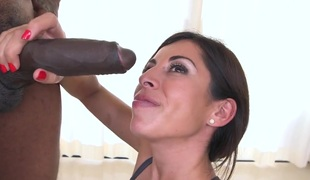 Sexy Sofia Rivera gets fishy by black gumshoe