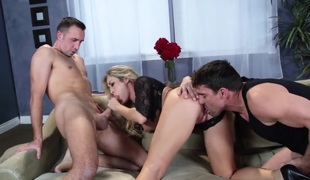 Blonde Keiran Lee Toni Ribas is unpredictable intensify as A hell and sucks dudes stiff meat pole back wild passion