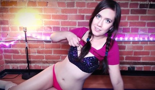 beamy tit teen about pigtails