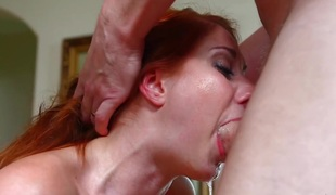 Throated My dick abyss inside a redhair bitch!