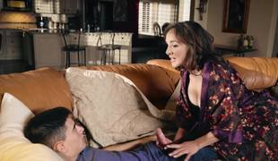 Amazing MILF is having fun with their way son's friend