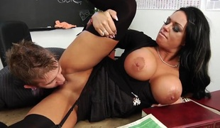 Honcho brunette Kerry rammed hard almost the classroom