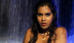 Taking untidy indian beauty