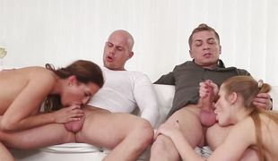 Awesome pussy plugged orgy with Alexis Crystal, Nicole Vice and Eveline Dellai